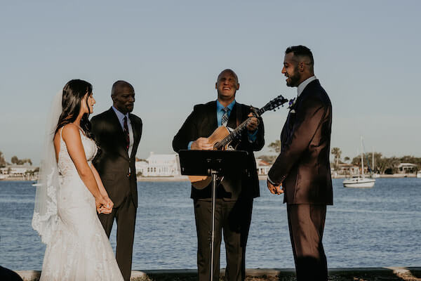 Clearwater Beach Wedding – Clearwater Beach Recreation Center wedding- Clearwater Beach wedding planner - singing at wedding ceremony