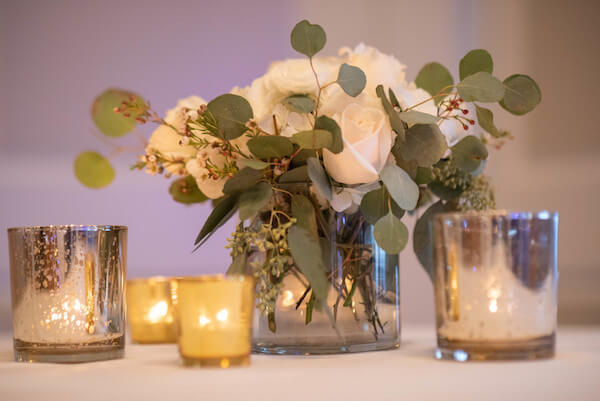 Special Moments Event Planning – The Brides Bouquet – Random Acts of Flowers – repurposing your wedding flowers - white rose centerpieces