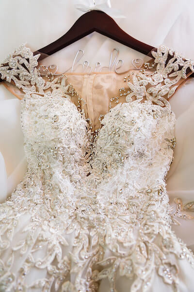 Clearwater Beach Wedding – Hyatt Regency Clearwater Beach – Clearwater Beach wedding planner - crystal embellished wedding gown