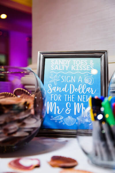 Clearwater Beach Wedding – Hyatt Regency Clearwater Beach – Clearwater Beach wedding planner - unique wedding guest book