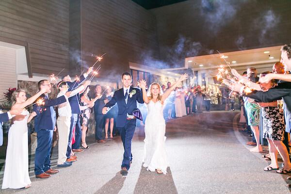 Innisbrook Resort wedding – Palm Harbor wedding – grand exit - sparkler exit - bride and groom
