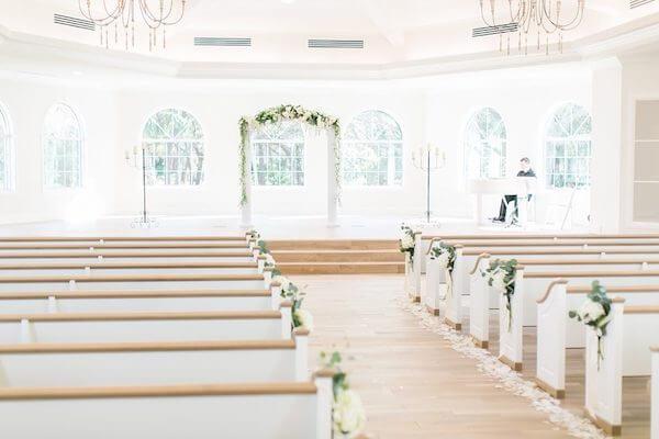 Harborside Chapel – Harborside Chapel wedding ceremony – Palm Harbor wedding – wedding arch - wedding ceremony