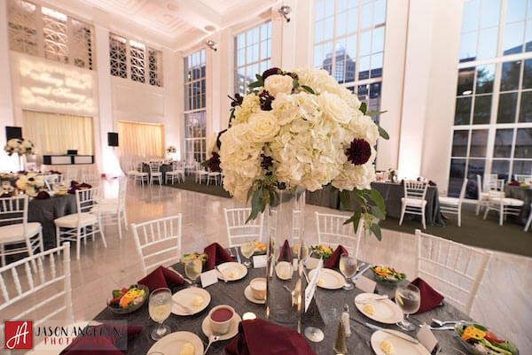 The Vault – Tampa Wedding Venue – Tampa Wedding Planner - slate and burgundy wedding