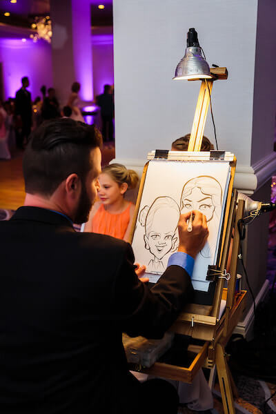 Clearwater Beach Wedding – Hyatt Regency Clearwater Beach – Clearwater Beach wedding planner - caricature artist