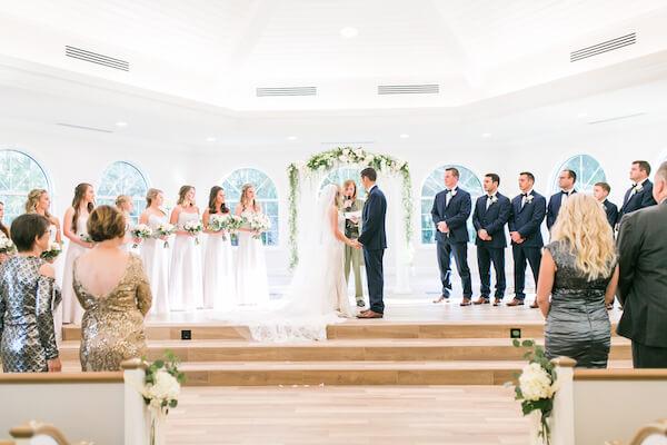 Harborside Chapel – Harborside Chapel wedding ceremony – Palm Harbor wedding – exchanging wedding vows