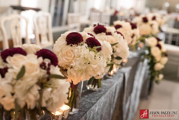 The Vault – Tampa Wedding Venue – Tampa Wedding Planner - head table - bridesmaids bouquets