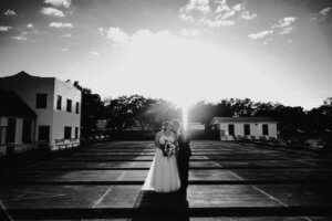 St Pete wedding – St Petersburg wedding planner – St Petersburg shuffleboard club wedding - bride and groom