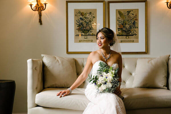 Tampa wedding planner- Special Moments Event Planning – Tampa Garden Club wedding- bride with white bouquet
