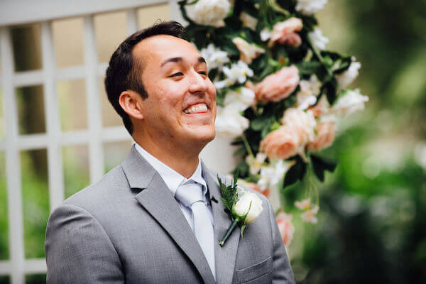 Tampa wedding planner- Special Moments Event Planning – Tampa Garden Club wedding - groom waiting for bride