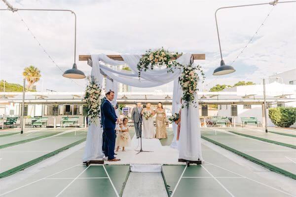 St Pete wedding – St Petersburg wedding planner – St Petersburg shuffleboard club wedding - here comes the bride