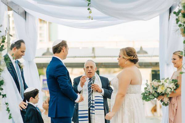 St Pete wedding – St Petersburg wedding planner – St Petersburg shuffleboard club wedding - Jewish wedding ceremony
