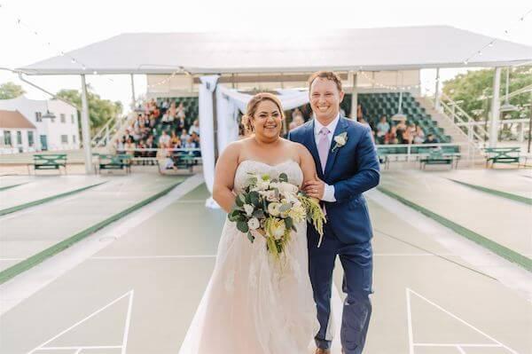 St Pete wedding – St Petersburg wedding planner – St Petersburg shuffleboard club wedding - Just Married