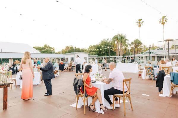 t Pete wedding – St Petersburg wedding planner – St Petersburg shuffleboard club wedding - outdoor wedding reception