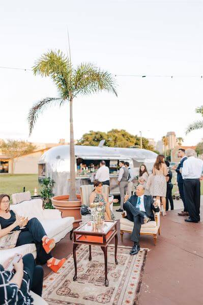 St Pete wedding – St Petersburg wedding planner – St Petersburg shuffleboard club wedding - lounge and mobile bar