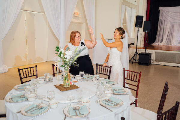 Tampa wedding planner- Special Moments Event Planning – Tampa Garden Club wedding - excited bride with wedding planner