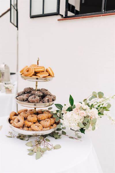 St Pete wedding – St Petersburg wedding planner – St Petersburg shuffleboard club wedding - doughnut display