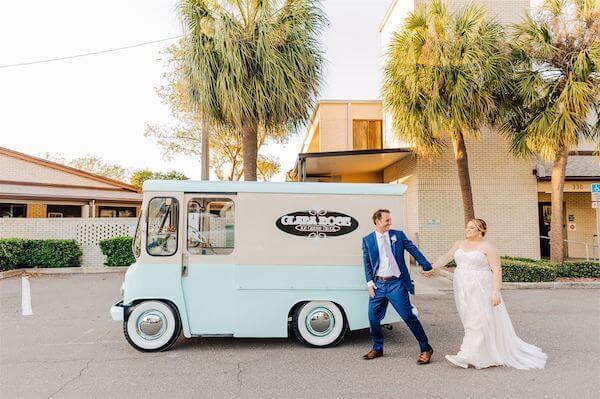St Pete wedding – St Petersburg wedding planner – St Petersburg shuffleboard club wedding - ice cream truck