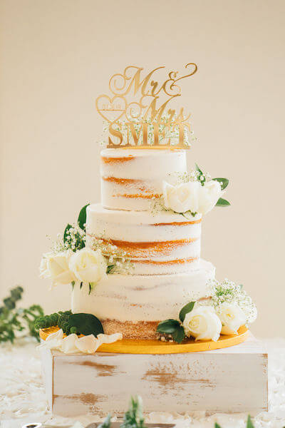 Tampa wedding planner- Special Moments Event Planning – Tampa Garden Club wedding - naked wedding cake