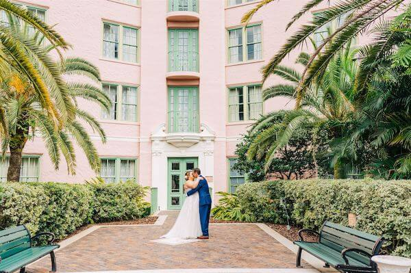 St Pete wedding – St Petersburg wedding planner – Vinoy Hotel - first look