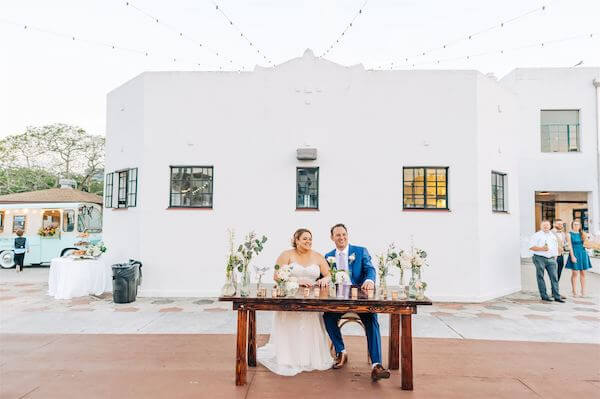 t Pete wedding – St Petersburg wedding planner – St Petersburg shuffleboard club wedding - sweetheart table