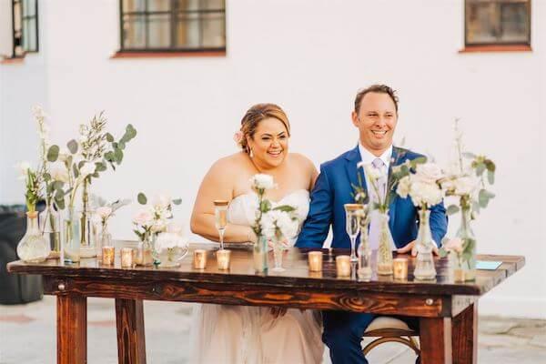 St Pete wedding – St Petersburg wedding planner – St Petersburg shuffleboard club wedding - happy couple