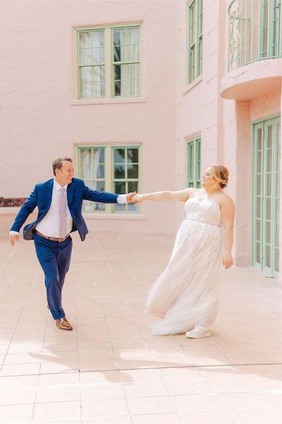 St Pete wedding – St Petersburg wedding planner – The Vinoy - bride and groom having fun