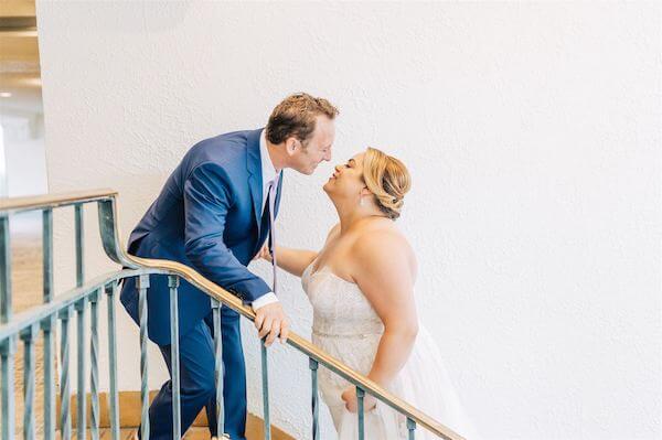 St Pete wedding – St Petersburg wedding planner – bride and groom at The Vinoy