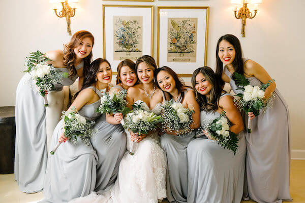 Tampa wedding planner- Special Moments Event Planning – Tampa Garden Club wedding - bride with bridesmaids