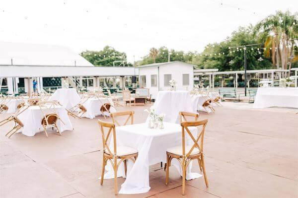 St Pete wedding – St Petersburg wedding planner – St Petersburg shuffleboard club wedding -outdoor wedding reception