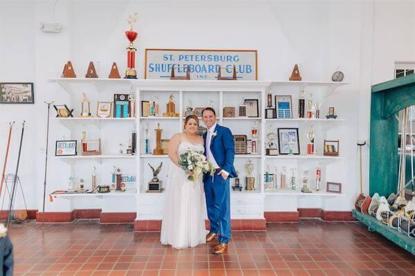 St Pete wedding – St Petersburg wedding planner – St Petersburg shuffleboard club wedding