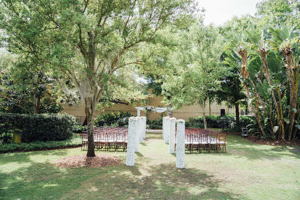Tampa wedding planner- Special Moments Event Planning – Tampa Garden Club wedding - outdoor wedding ceremony