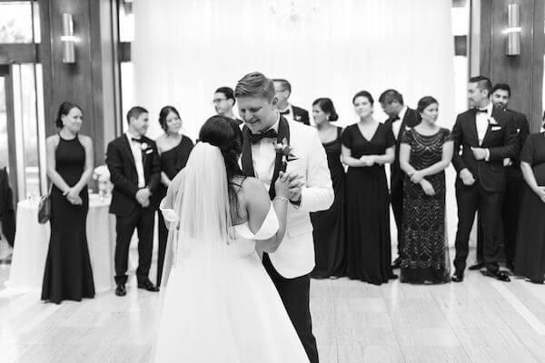 bride and groom - first dance - St Petersburg wedding reception - St Petersburg wedding planner- Poynter Institute of media Studies - St Petersburg wedding venue
