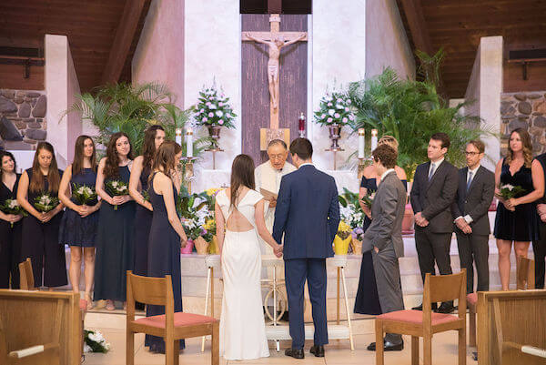 St Ignatius Catholic Church - Tarpon Springs wedding ceremony- exchanging wedding vows