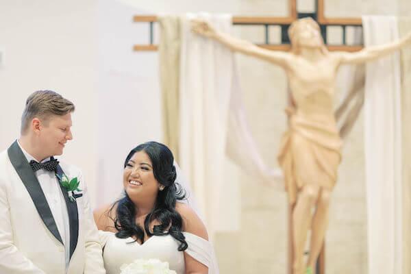 bride and groom - Catholic wedding ceremony - St Petersburg wedding - St Petersburg wedding planner