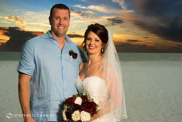 Special Moments Event Planning - Sandpearl Resort - Clearwater Beach Wedding - bride and groom at sunset
