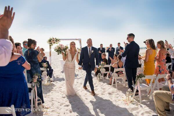 Special Moments Event Planning – Clearwater Beach wedding planner- Sandpearl wedding – Clearwater Beach wedding - just married