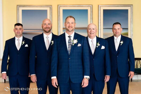 Special Moments Event Planning – Clearwater Beach wedding planner- Sandpearl wedding – Clearwater Beach wedding - groom and groomsmen in Navy blue suits