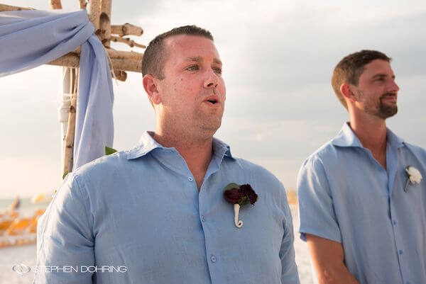 Special Moments Event Planning - Sandpearl Resort - Clearwater Beach Wedding - anxious groom