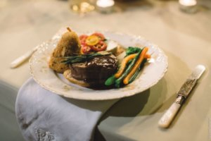 wedding dinner - working with wedding caterers- off premise catering for weddings