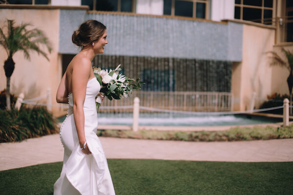 Special Moments Event Planning – Clearwater Beach Wedding – Clearwater Beach Wedding Planner- Clearwater Beach Destination Wedding- first look - Matthew Christopher - Matthew Christopher wedding gown