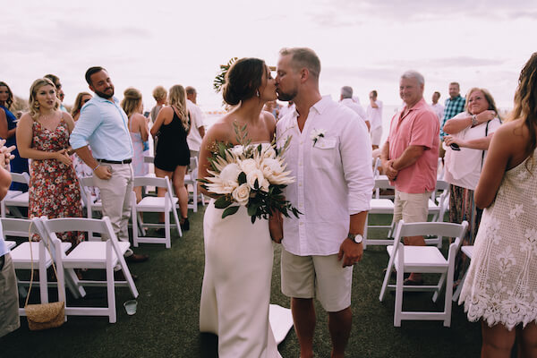 Special Moments Event Planning – Clearwater Beach Wedding – Clearwater Beach Wedding Planner- Clearwater Beach Destination Wedding- beach wedding ceremony - bride - groom - bride and groom - just married - first kiss