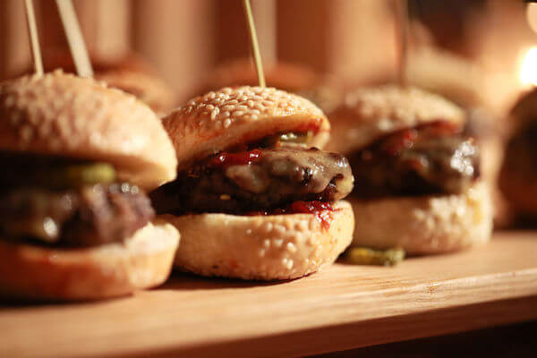 Special Moments Event Planning - 2020 wedding trends - Tampa Bay weddings planner - hamburger sliders