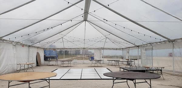 Sand Key County Park - Clear Tent - Tented Wedding - Special Moments Event Planning - Tropical Storm Nestor