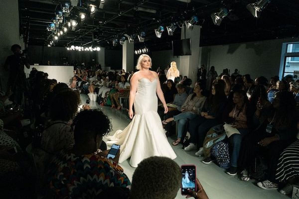 New York Fashion Week - The Knot - Klienfeld - CURVYcom - plus size wedding gowns