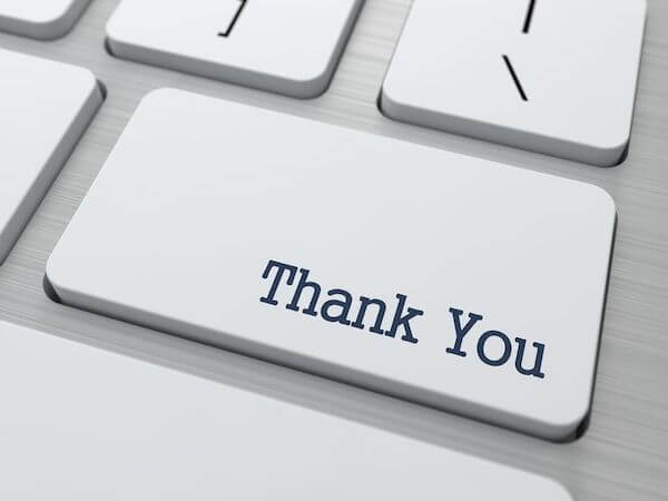 Thank you - thankful - thanksgiving
