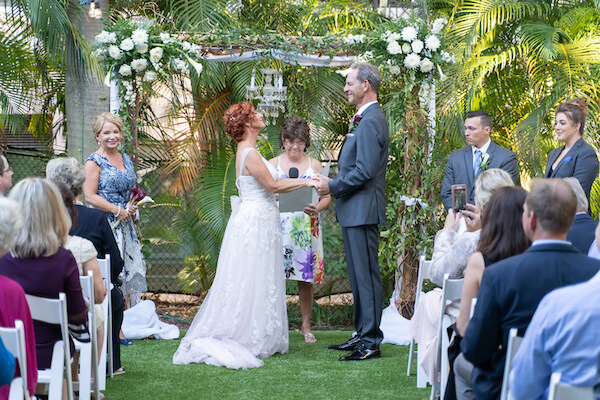 St Petersburg wedding - St Petersburg intimate wedding- St Petersburg wedding planner - outdoor wedding ceremony - bride and groom - bride - groom - exchanging wedding vows