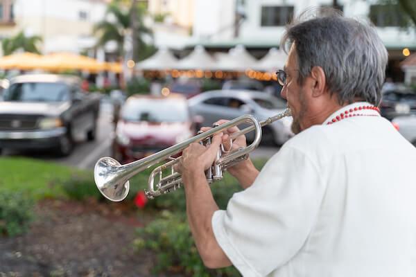 Special Moments Event Planning - second line - wedding parasol - st Petersburg wedding - st Petersburg wedding planner - unique wedding details - New Orleans Jazz - trumpet