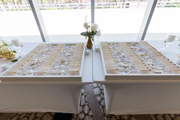 Clearwater Beach wedding - Clearwater Beach - Wyndham Grand Clearwater Beach - Wyndham Grand Clearwater Beach wedding - Wyndham Grand weddings - Clearwater Beach Jewish wedding - blush wedding - beach themed escort cards