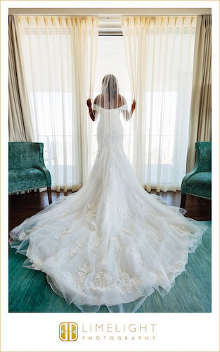 Opal Sands Resort - Bride - Bride at Window - Clearwater Beach wedding