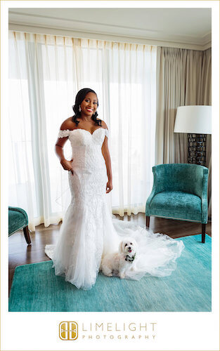 Opal Sands Resort - Bride - Bride with dog - Clearwater Beach wedding